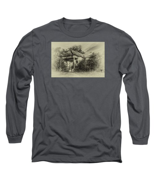 Community Center II In Sepia Long Sleeve T-Shirt