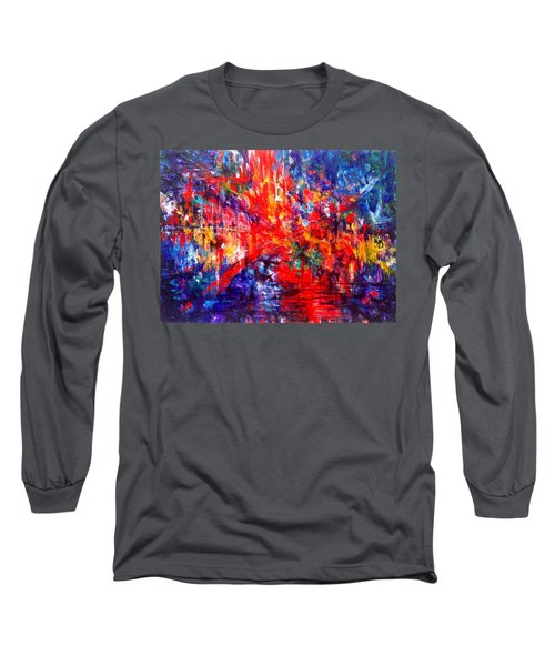 Composition # 1. Series Abstract Sunsets Long Sleeve T-Shirt by Helen Kagan