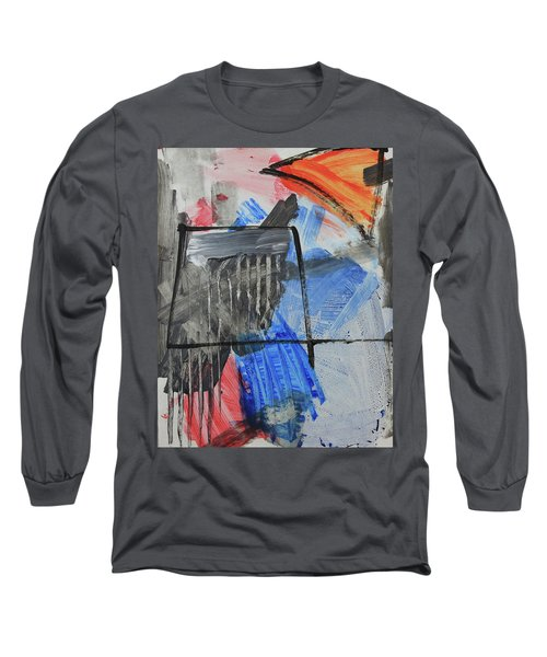 Composition 20188 Diptych Left Panel Long Sleeve T-Shirt
