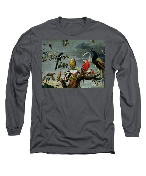 Concert Of Birds Long Sleeve T-Shirt by Frans Snijders