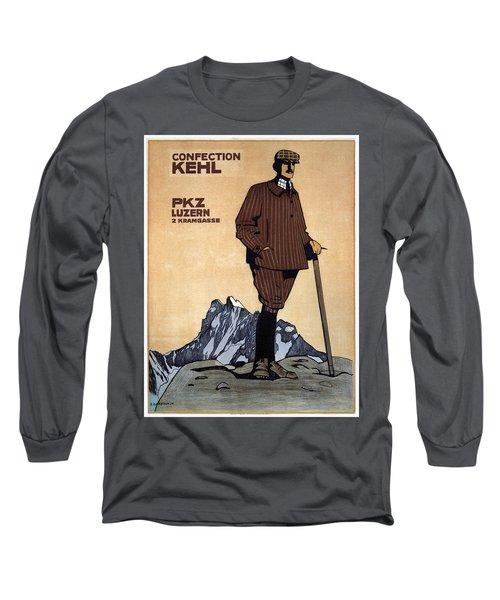 Confection Kehl - Men's Clothing - Vintage Advertising Poster Long Sleeve T-Shirt