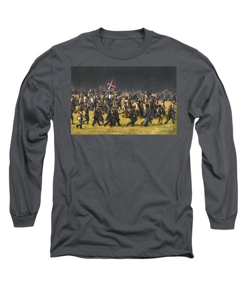 Confederate Charge At Gettysburg Long Sleeve T-Shirt by Paul W Faust -  Impressions of Light