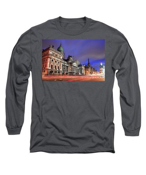 Long Sleeve T-Shirt featuring the photograph Congress  by Bernardo Galmarini