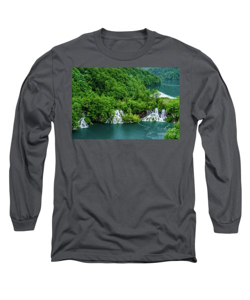 Connected By Waterfalls - Plitvice Lakes National Park, Croatia Long Sleeve T-Shirt