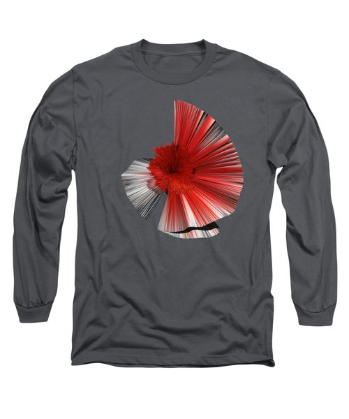 Consciousness Of The Inanimate Painting As A Spherical Depth Map. A Long Sleeve T-Shirt by Paul Davenport