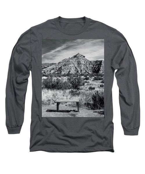 Contemplation Bench Bw Long Sleeve T-Shirt