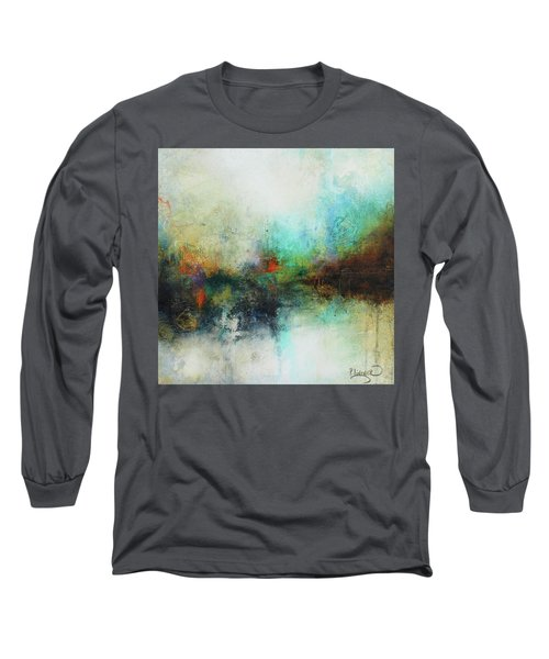 Contemporary Abstract Art Painting Long Sleeve T-Shirt by Patricia Lintner
