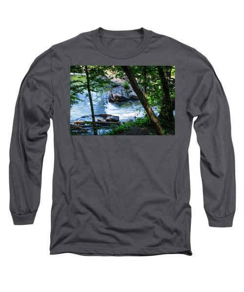 Cool Mountain Stream Long Sleeve T-Shirt