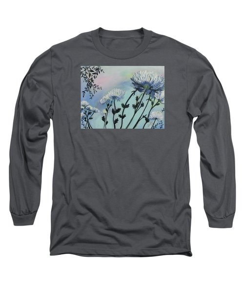Cool White Spider Mums Long Sleeve T-Shirt