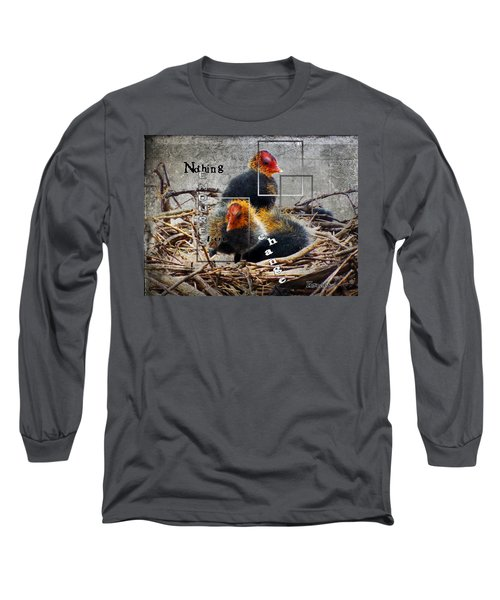 Coots In Nest Long Sleeve T-Shirt by Judi Saunders