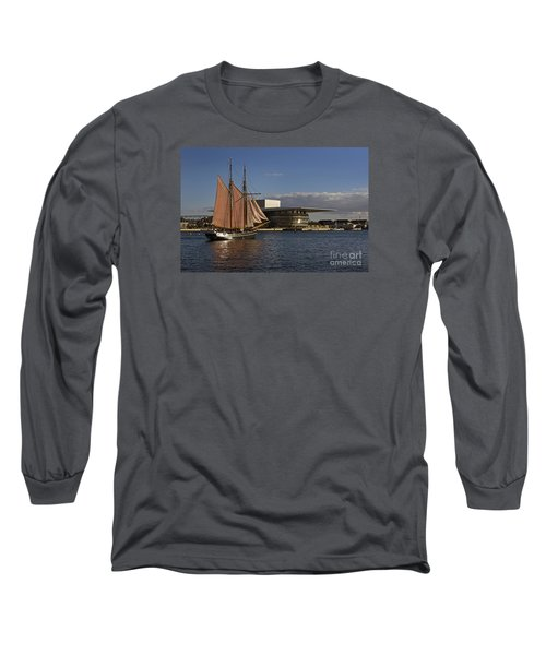 Long Sleeve T-Shirt featuring the photograph Copenhagen Harbour by Inge Riis McDonald