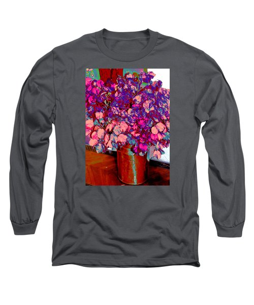 Long Sleeve T-Shirt featuring the photograph Copper Vase Floral by M Diane Bonaparte