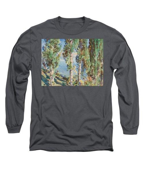 Corfu Cypresses Long Sleeve T-Shirt