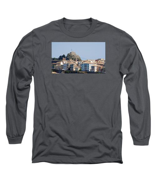 Long Sleeve T-Shirt featuring the photograph Corfu Old Fortress by Robert Moss