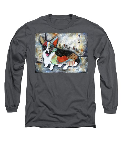 Corgi 2 Long Sleeve T-Shirt by Patricia Lintner