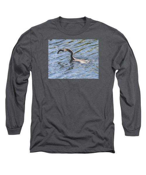 Cormorant Caught Fish Long Sleeve T-Shirt