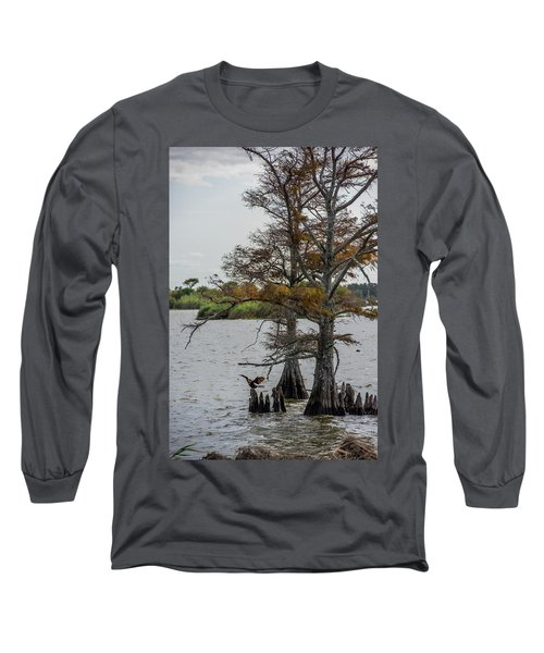 Long Sleeve T-Shirt featuring the photograph Cormorant by Paul Freidlund