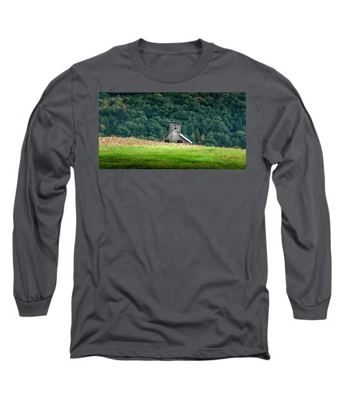 Long Sleeve T-Shirt featuring the photograph Corn Field Silo by Marvin Spates