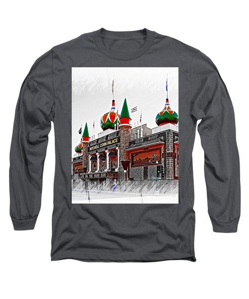 Corn Palace South Dakota Long Sleeve T-Shirt by Bob Pardue