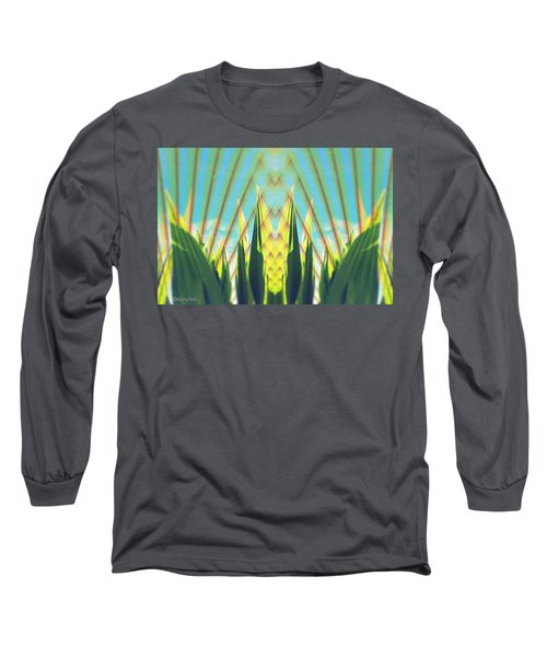 Cornfield At Sunrise Long Sleeve T-Shirt