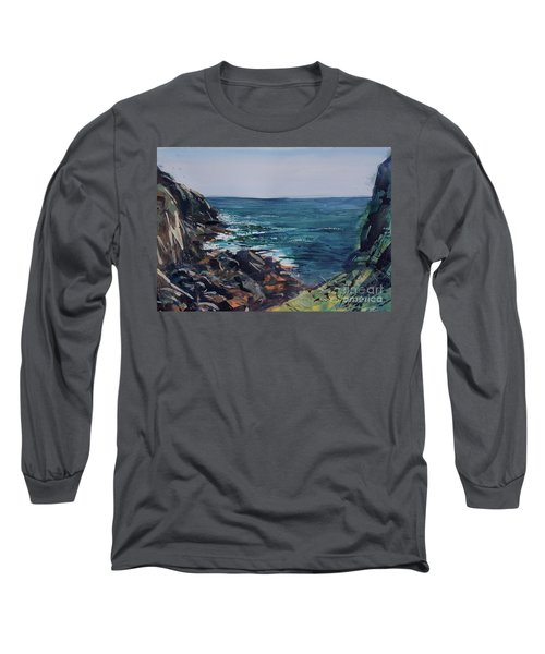 Cornish Clffs Long Sleeve T-Shirt by Genevieve Brown