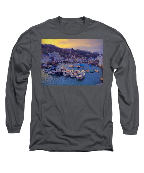 Cornish Fishing Village Long Sleeve T-Shirt by Paul Gulliver