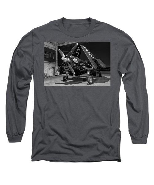 Corsair In The Hangar Long Sleeve T-Shirt