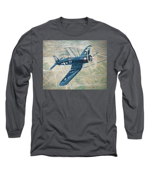 Corsair Over Mojave Long Sleeve T-Shirt by Douglas Castleman