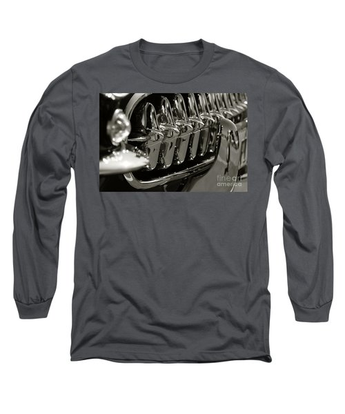 Corvette Grill Long Sleeve T-Shirt by Dennis Hedberg