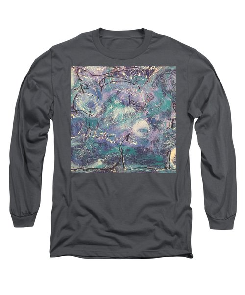 Cosmic Abstract Long Sleeve T-Shirt by Gallery Messina