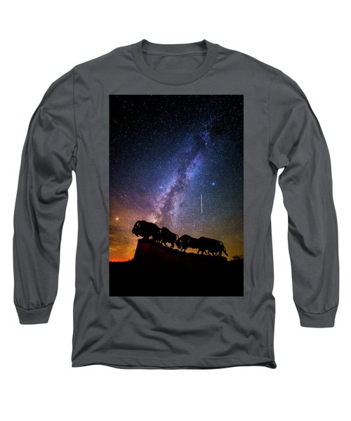 Long Sleeve T-Shirt featuring the photograph Cosmic Caprock by Stephen Stookey