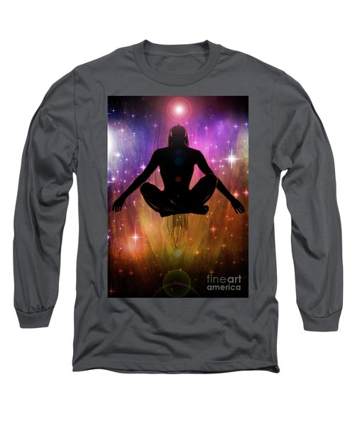 Long Sleeve T-Shirt featuring the photograph Cosmic Enlightenment... by Nina Stavlund