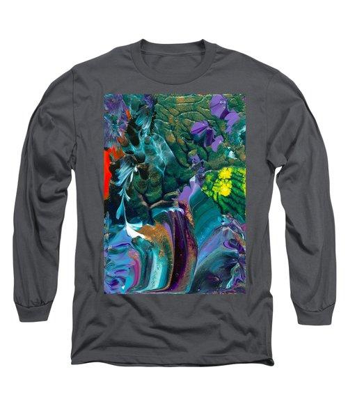 Cosmic Feathered Webbed Universe Long Sleeve T-Shirt