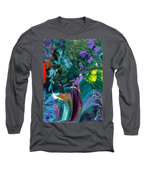 Cosmic Feathered Webbed Universe Long Sleeve T-Shirt