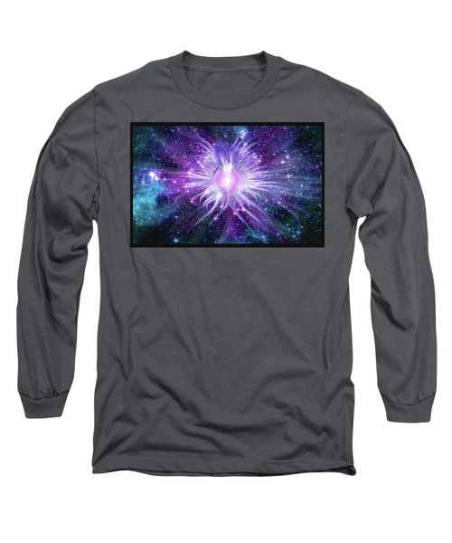Long Sleeve T-Shirt featuring the mixed media Cosmic Heart Of The Universe Mosaic by Shawn Dall