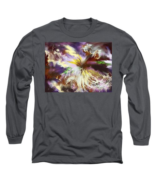 Long Sleeve T-Shirt featuring the digital art The Flowering Of The Cosmos by Amyla Silverflame
