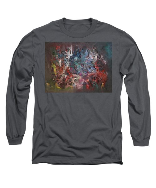 Long Sleeve T-Shirt featuring the painting Cosmic Web by Michael Lucarelli