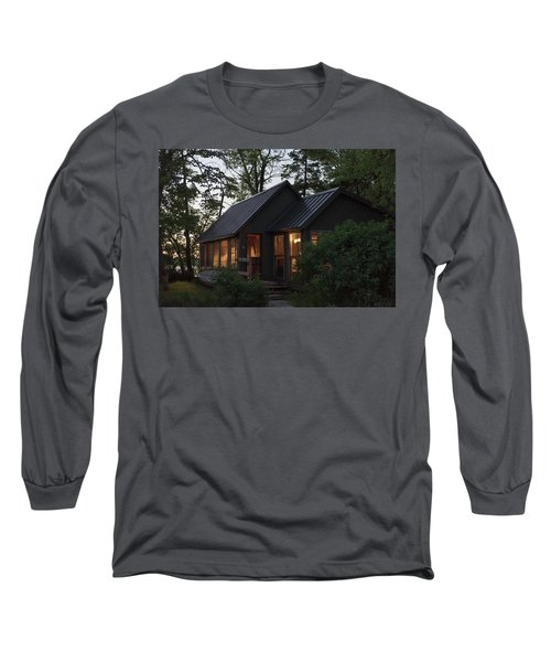 Long Sleeve T-Shirt featuring the photograph Cosy Cabin In The Woods by Gary Eason