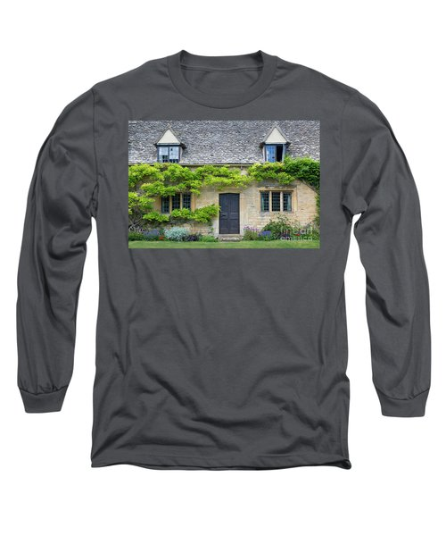 Long Sleeve T-Shirt featuring the photograph Cotswolds Cottage Home II by Brian Jannsen