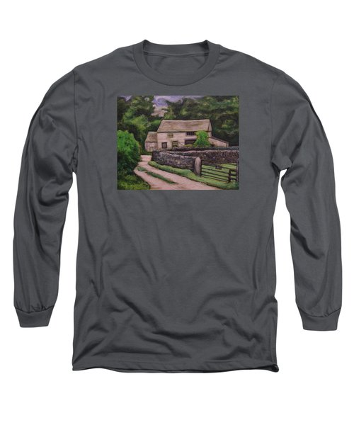 Cottage Road Long Sleeve T-Shirt by Ron Richard Baviello