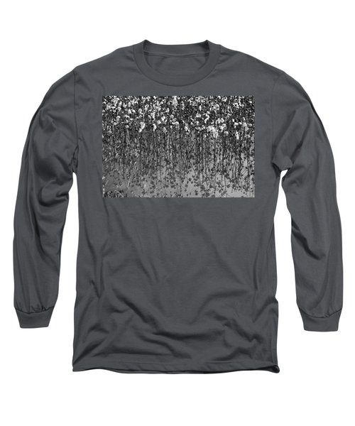 Cotton Abstract In Black And White Long Sleeve T-Shirt