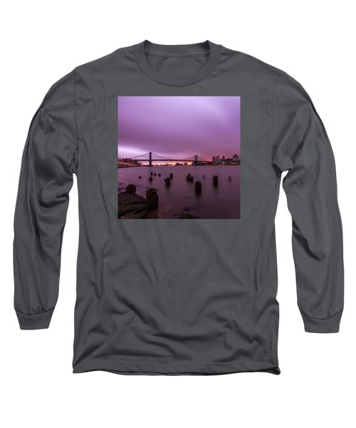 Long Sleeve T-Shirt featuring the photograph Cotton Candy  by Anthony Fields