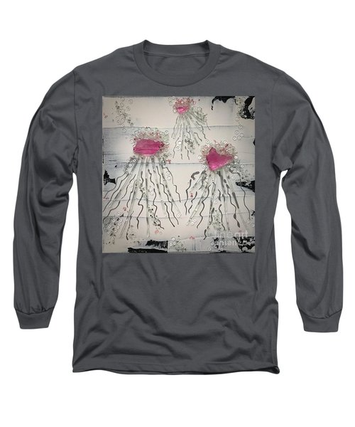 Cotton Candy Jelly-fish Long Sleeve T-Shirt