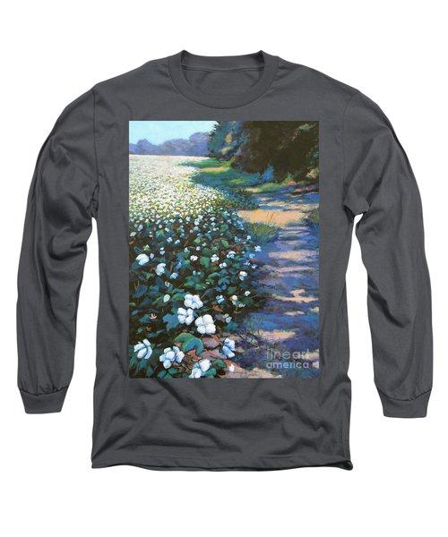 Cotton Field Long Sleeve T-Shirt by Jeanette Jarmon
