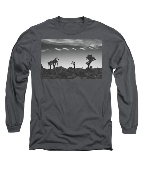 Long Sleeve T-Shirt featuring the photograph Cotton Sky On Joshua Trees by Joseph Westrupp