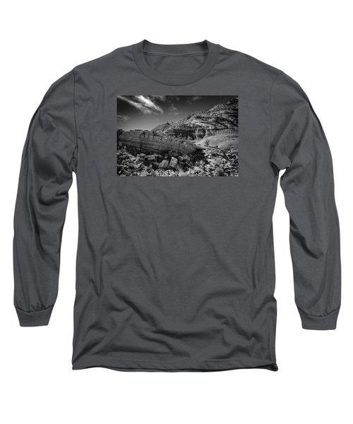Cottonwood Creek Strange Rocks 3 Bw Long Sleeve T-Shirt