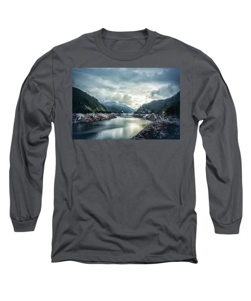 Cougar Reservoir On A Snowy Day Long Sleeve T-Shirt