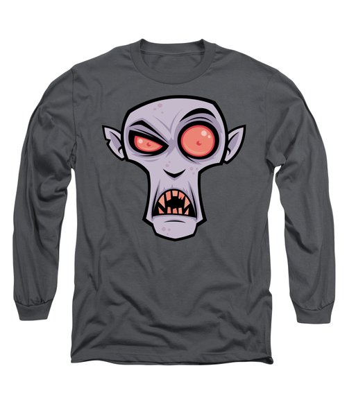 Count Dracula Long Sleeve T-Shirt by John Schwegel