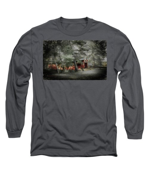 Long Sleeve T-Shirt featuring the photograph Country Crossing by Marvin Spates