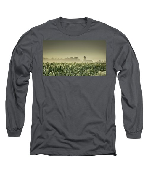 Country Farm Landscape Long Sleeve T-Shirt